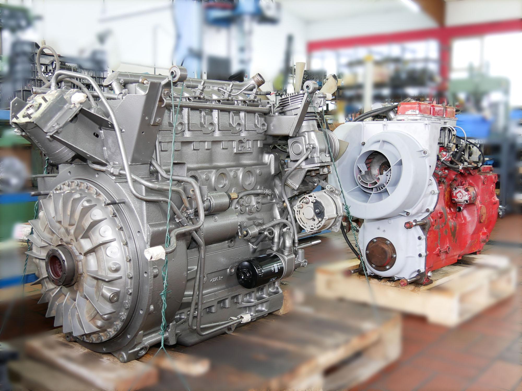 Komplettmotoren nach Montage